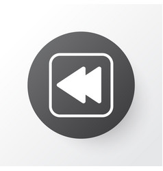 Backward music icon symbol premium quality vector