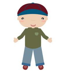 boy with cap vector image vector image