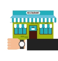 Building place restaurant menu vector