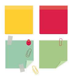 color paper stickers for notes flat post icons vector image