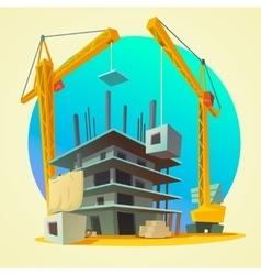 Construction concept cartoon vector