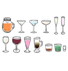 Drinking glasses vector