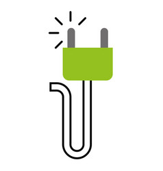Energy plug isolated icon vector