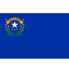 Flag of Nevada in correct size and colors vector image vector image
