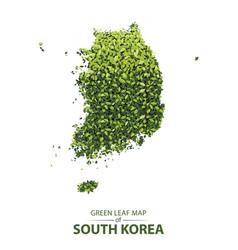 green leaf map of south korea vector image