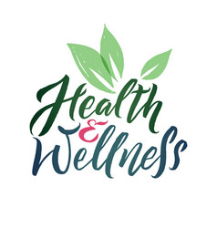 health and wellness studio logo stroke vector image vector image