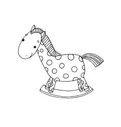 Horse kids toys vector