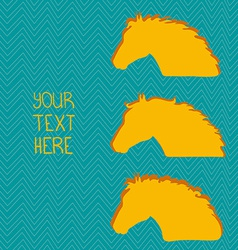 HorseHead7 vector image