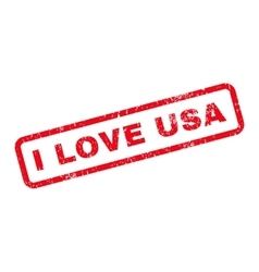 I love usa text rubber stamp vector