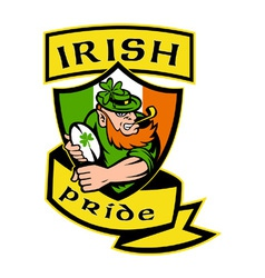 irish rugby shield vector image