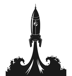 Launch of space rocket vector