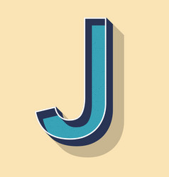 Letter j retro text style fonts concept vector