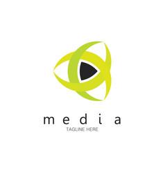 media logo vector image