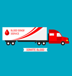 Mobile blood transfusion station vehicle medical vector
