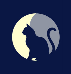 moon cat vector image vector image