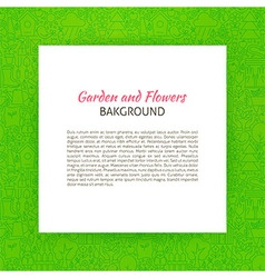 Paper over Garden and Flowers Line Art Background vector image