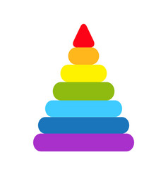 Pyramid icon childrens colorful plastic toy vector