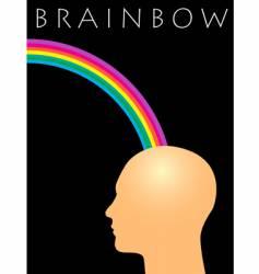 rainbow man vector image