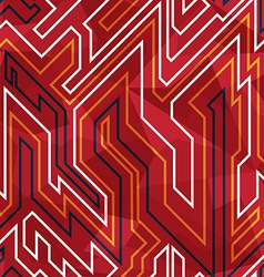 red circuit seamless pattern vector image