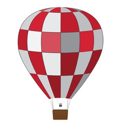 Red white air balloon vector image vector image