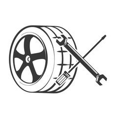 repair of tires design vector image