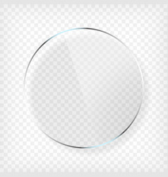 round glass plate with shadow vector image vector image