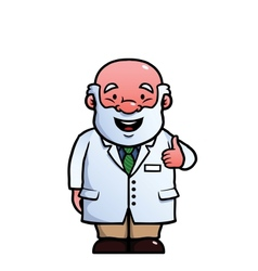 Scientist giving thumbs up vector image vector image
