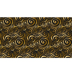 Spiral gold seamless pattern in curve luxury style vector