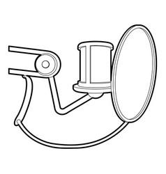 Studio microphone icon outline style vector