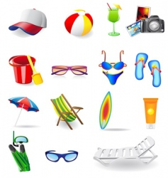 sun sea and beach vector image vector image