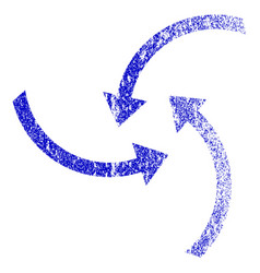 Swirl arrows grunge textured icon vector