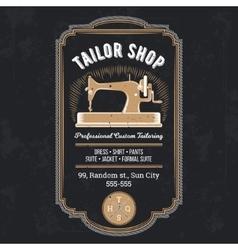 Tailor emblem signage vector