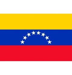 Venezuelan civil flag vector image vector image