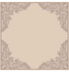 vintage ornamental template vector image