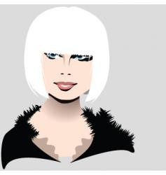 white hair vector image vector image