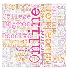 Why Should You Get An Online College Diploma text vector image