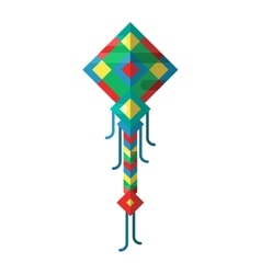 Flying colorful kite vector