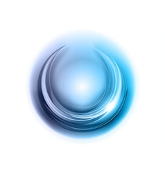 Light round center blue vector
