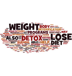 Lose weight with detox text background word cloud vector