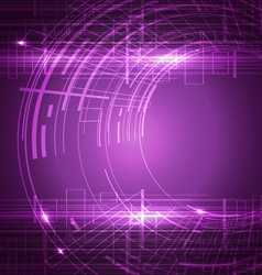 Abstract technology purple background vector