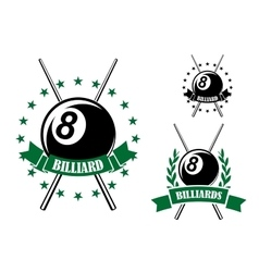 Billiards or pool sporting emblem vector