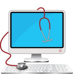 Doctor computer vector