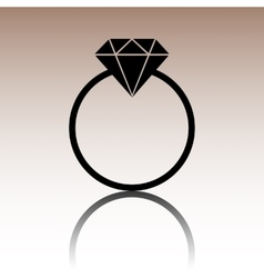 Black diamond icon vector