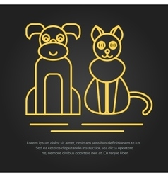 Veterinary pet health care animal medicine icons vector
