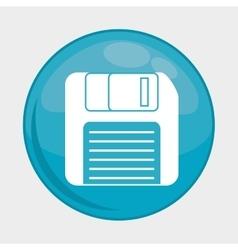 Diskette button icon social media design vector