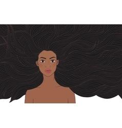 African beauty girl vector image