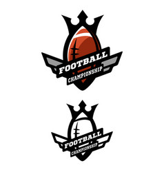 American football two options logo vector