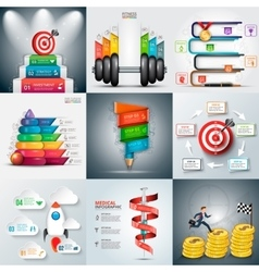 Business infographic templates vector