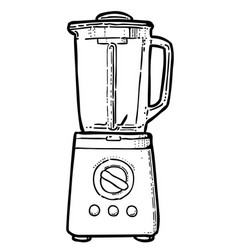 Cartoon image of blender vector