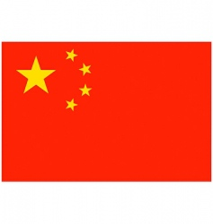 chinese flag vector image vector image